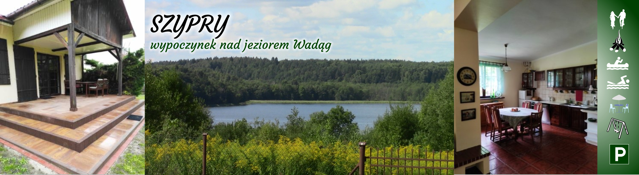 Szypry, wypoczynek nad jeziorem Wadąg
